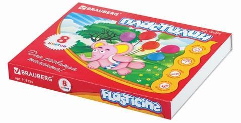 Фото - Набор пластилина BRAUBERG классический 8 цветов набор пластилина brauberg классический 10 цветов 103349