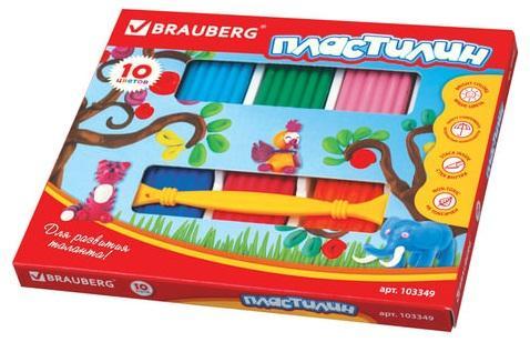 Фото - Набор пластилина BRAUBERG классический 10 цветов набор пластилина brauberg классический 10 цветов 103349