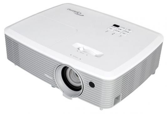 лучшая цена Проектор Optoma W400+ (DLP, WXGA 1280x800, 4000Lm, 22000:1, 2xHDMI, MHL, LAN, 1x10W speaker, 3D Ready, lamp 10000hrs)