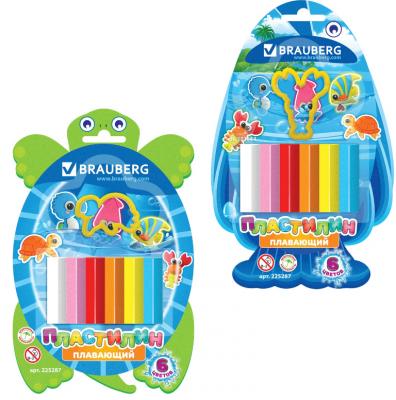 Фото - Набор пластилина BRAUBERG плавающий 6 цветов набор пластилина brauberg классический 10 цветов 103349