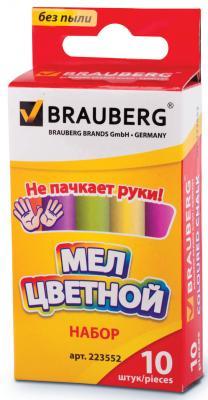 Мел BRAUBERG 223552 5 цветов 10 штук
