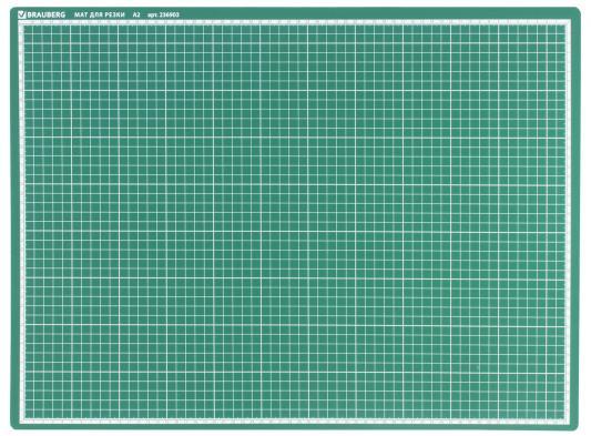 Мат для резки BRAUBERG, А2, 600х450 мм, двусторонний, 3-слойный, толщина 3 сантиметровая шкала, 236903