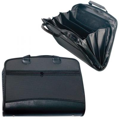 Портфель-сумка пластиковый BRAUBERG, А4+, 375х305х60 мм, на молнии, бизнес-класс, 4 отделения, 2 кармана, черный, 225169 п kuone® мужская кожаная сумка портфель бизнес 100