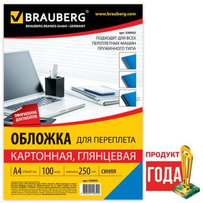 Фото - Обложки для переплета BRAUBERG, комплект 100 шт., глянцевые, А4, картон 250 г/м2, синие, 530955 эспадрильи на танкетке с верёвочным эффектом для широкой стопы 38 45