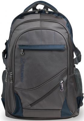 Рюкзак для школы и офиса BRAUBERG MainStream 1, 35 л, размер 45х32х19 см, ткань, серо-синий, 224445