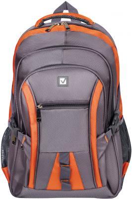 Рюкзак дышащая спинка BRAUBERG SpeedWay 2 25 л серый оранжевый brauberg brauberg рюкзак speedway 1 городской