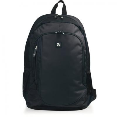 """Рюкзак BRAUBERG B-TR1606 для старшеклассников/студентов, 22 л, черный, """"Навигатор"""", 30х17х45 см, 225291 стоимость"""