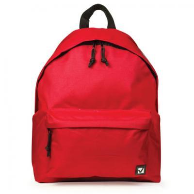 Рюкзак BRAUBERG, универсальный, сити-формат, один тон, красный, 20 литров 41х32х14 см, 225379 рюкзак brauberg универсальный сити формат один тон черный 20 литров 41х32х14 см 225381
