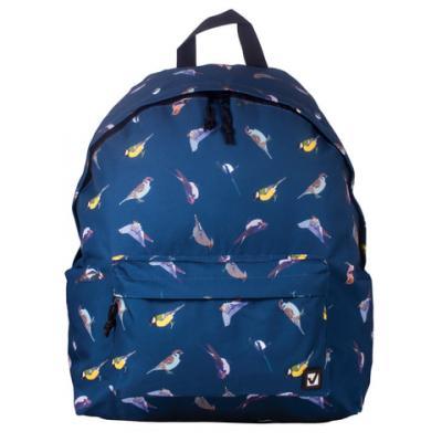 Купить Рюкзак ручка для переноски BRAUBERG Птицы 23 л синий 226401, полиэстер, Рюкзаки