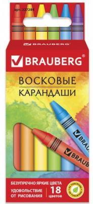 """Восковые карандаши BRAUBERG """"АКАДЕМИЯ"""", НАБОР 18 цв.,227284 карандаши fila восковые карандаши 12 цв"""