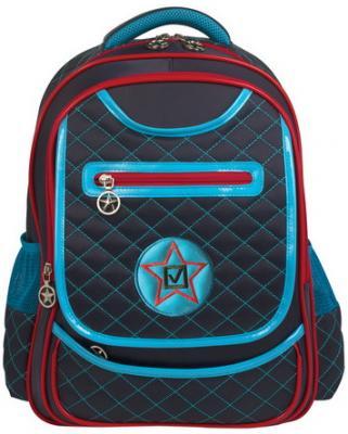 Купить Рюкзак BRAUBERG для учеников начальной школы, стеганый , Кадет , 14 литров, 40х29х17, 5 см, 226360, синий, полиуретан, ткань, Ранцы, рюкзаки и сумки