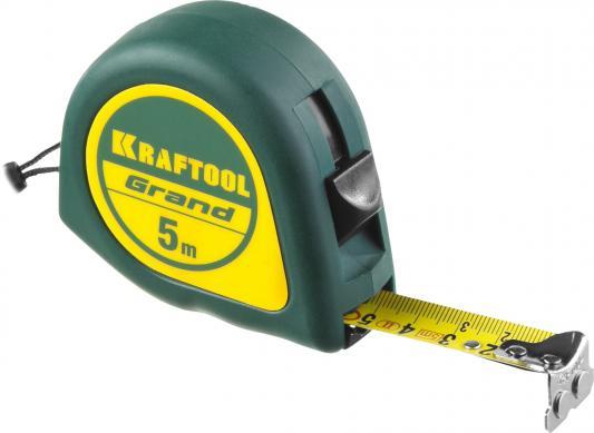 KRAFTOOL GRAND 5м / 19мм рулетка с ударостойким корпусом (ABS) и противоскользящим покрытием