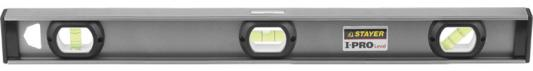 """Уровень STAYER """"PROFESSIONAL"""" I-PROLevel, усилен рельс с ручками, утолщен особопрочн профиль, точность 1мм/м, 3 ампулы, 200см"""