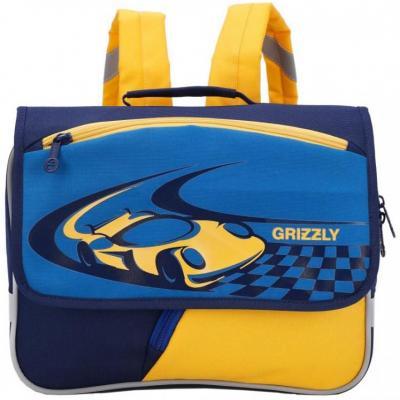 Рюкзак светоотражающие материалы GRIZZLY Тачка 5 л синий желтый RK-997-1 цена и фото