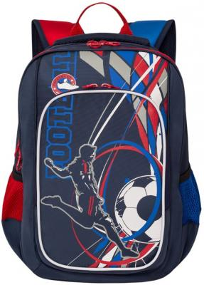 Рюкзак светоотражающие материалы GRIZZLY Школьный темно-синий