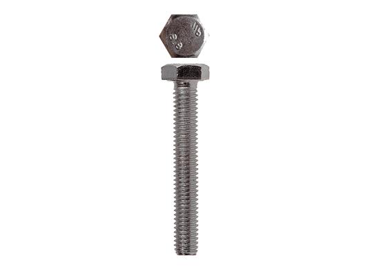 Болт с шестигранной головкой, DIN 933, M6x12 мм, 10 шт, кл. пр. 5.8, оцинкованный, ЗУБР болт с шестигранной головкой din 933 m20x80мм 10шт кл пр 8 8 оцинкованный kraftool