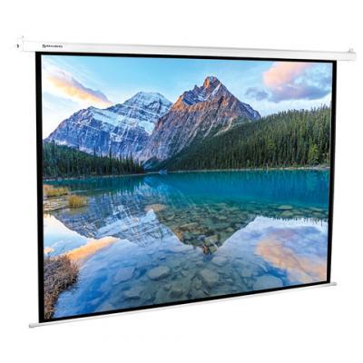 Фото - Экран настенно-потолочный BRAUBERG MOTO 180 x 240 см 236734 экран настенно потолочный brauberg wall 180 x 180 см 236726