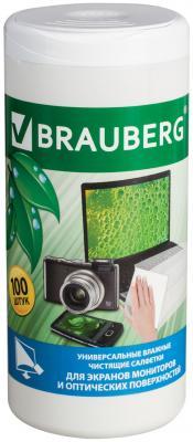 Фото - Чистящие салфетки BRAUBERG 510122 100 шт defender cln30100 салфетки чистящие 110 шт