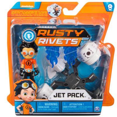 Купить Игрушка Rusty Rivets Строительный набор малый с фигуркой героя JETPACK, для мальчика, Игровые наборы для мальчиков