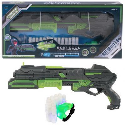 Купить Бластер c мягкими светящимися пулями, в компл. 14 пуль из фосфоресцирующего материала, браслет со светодиодом, патронташ, ручной взвод, в/к 51*7*23, 2, best toys, разноцветный, 51х23, 5х6, 8 см, для мальчика, Игрушечное оружие