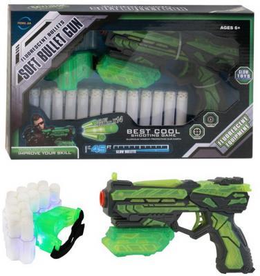 Купить Бластер c мягкими светящимися пулями, в компл. 14 пуль из фосфорицирующего материала и заряжающий пули патронташ со светодиодом, в/к 30, 3*6*18, 5 см, best toys, разноцветный, 30х18, 5х6 см, для мальчика, Игрушечное оружие