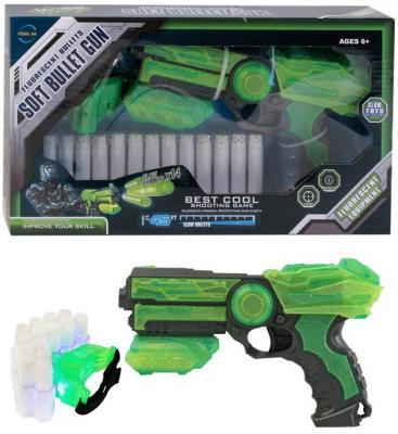 Бластер best toys c мягкими светящимися пулями автомат c мягкими светящимися пулями 201055