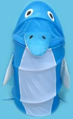 Купить Корзина для игрушек Дельфин , 38*45 см, Best toys, синий, текстиль, пластик, Ящики и корзины для игрушек