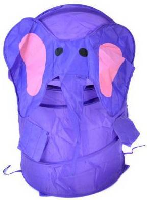 Купить Корзина для игрушек Слоник , 38*45 см, Best toys, фиолетовый, текстиль, пластик, Ящики и корзины для игрушек