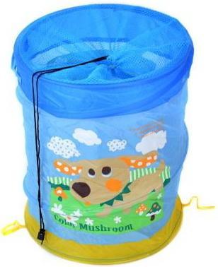 Купить Корзина для игрушек Собачка , 38*45 см, Best toys, голубой, текстиль, пластик, Ящики и корзины для игрушек