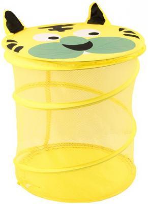 Купить Корзина для игрушек Тигр , 38*45 см, Best toys, жёлтый, текстиль, пластик, Ящики и корзины для игрушек