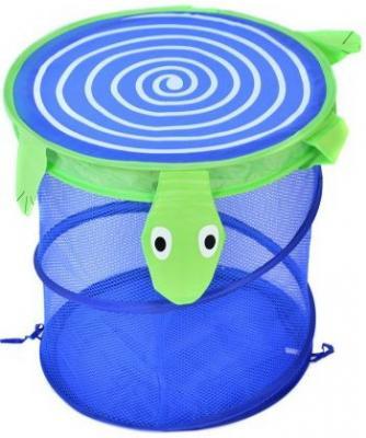 Купить Корзина для игрушек Черепаха , 38*45 см, Best toys, синий, текстиль, пластик, Ящики и корзины для игрушек