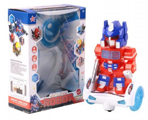 Робот на батарейках Best toys Робот 28 см со звуком светящийся боевой робот shantou gepai воин галактики 30 см двигающийся со звуком светящийся 6007