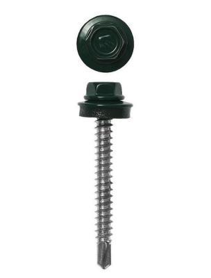 Саморезы СКД кровельные, RAL 6005 зеленый насыщенный, 70 х 4.8 мм, 800 шт, для деревянной обрешетки, ЗУБР Профессионал цена