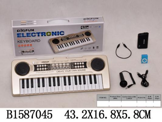 Купить Синтезатор best toys Синтезатор, золотой, Детские музыкальные инструменты