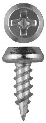 Саморезы КЛМ-Ц для листового металла, 11 х 3.5 мм, 55 шт, оцинкованные, ЗУБР саморезы универсальные 20х4 0 мм оцинкованные 200 шт