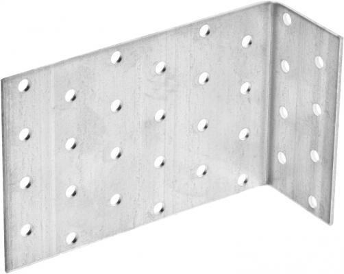 Уголок крепежный анкерный, 80х120х40 х 2мм, 20шт, ЗУБР