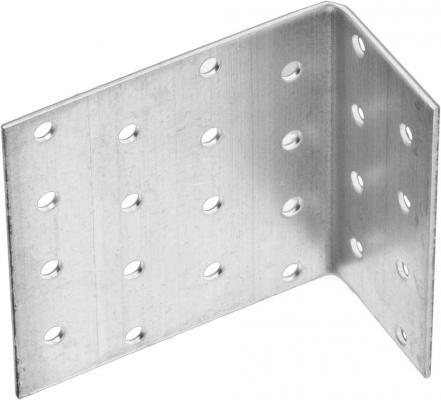 Уголок крепежный анкерный, 80х80х40 х 2мм, 20шт, ЗУБР