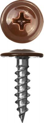 Саморезы ПШМ для листового металла, 19 х 4.2 мм, 450 шт, RAL-8017 шоколадно-коричневый, ЗУБР цена