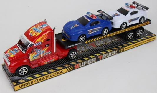 Набор машинок best toys Грузовой трейлер разноцветный игрушка dickie toys набор машинок 3745000