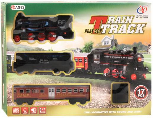 Купить Железная дорога классика на бат., электровоз, 1 вагон, 17 деталей, свет, звук, в/к 40*6, 5*30 см, best toys, Детская железная дорога