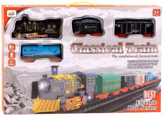 Купить Железная дорога-классика на бат., электровоз/3 вагона, свет, звук, в/к 56*5, 5*37 см, best toys, Детская железная дорога