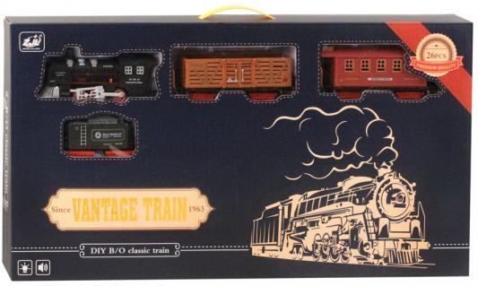 Купить Железная дорога-классика на бат., электровоз/3 вагона, свет, звук, в/к 73, 5*7*39 см, best toys, Детская железная дорога