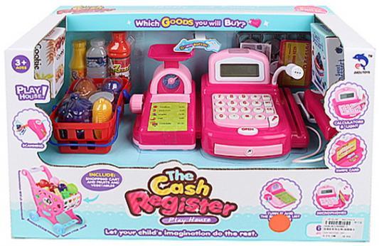 Купить Игровой набор Супермаркет , дисплей, звук, сканер, чек, кредитка, деньги, набор продуктов, весы, склад. корз. для продук. на колес., в/к 42*18*25 см, best toys, для девочки, Игровые наборы Детский супермаркет