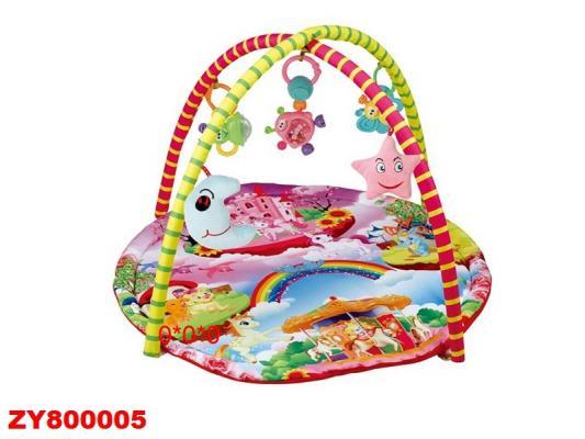 Детский мягкий коврик Радуга, круглая форма, мягкие дуги, подвески, в/к
