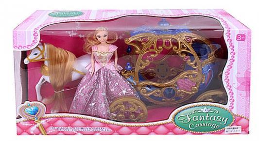 Купить Игровой набор best toys Лошадь с каретой и куклой, Аксессуары для кукол