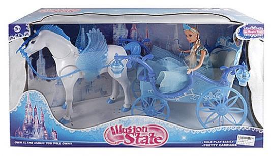 Игровой набор best toys Карета с куклой и лошадкой светящаяся со звуком steffi игровой набор кукла с лошадкой