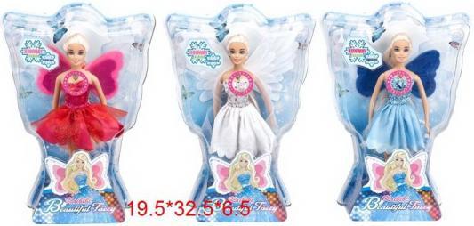 Купить Кукла Фея , крылышки светятся при нажатии на кнопку, высота 27 см., в/к 19, 5*32, 5*6, 5 см, KAIBIBI, пластик, Классические куклы и пупсы