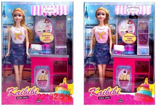 Купить Кукла, в комплекте мебель и аксессуары для мини-кафе, в ассорт., в/к 22*32, 5*6 см, KAIBIBI, пластик, текстиль, Классические куклы и пупсы