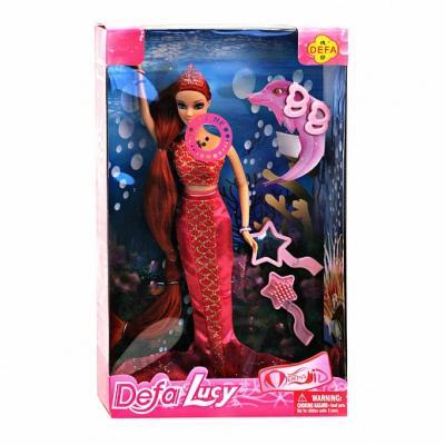 Купить Кукла Defa Кукла- русалка 29 см светящаяся, пластик, текстиль, Классические куклы и пупсы