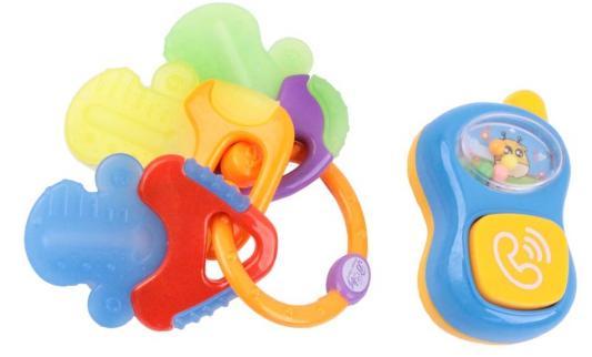 Игрушка-прорезыватель Облако заботы Телефон и прорезыватели для зубов в виде ключей разноцветный с 3 месяцев игрушка для зубов people игрушка для зубов